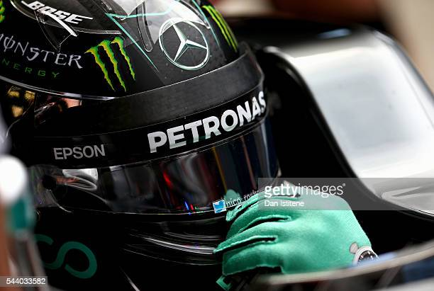 Nico Rosberg of Germany and Mercedes GP in the Pitlane during practice for the Formula One Grand Prix of Austria at Red Bull Ring on July 1 2016 in...