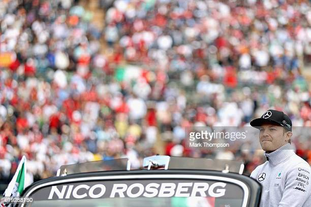 Nico Rosberg of Germany and Mercedes GP on the drivers parade before the Formula One Grand Prix of Mexico at Autodromo Hermanos Rodriguez on October...