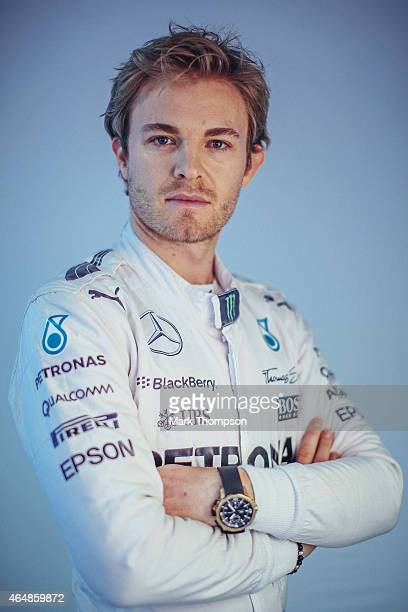 Nico Rosberg of Germany and Mercedes GP poses for a portrait during day three of Formula One Winter Testing at Circuit de Catalunya on February 21,...