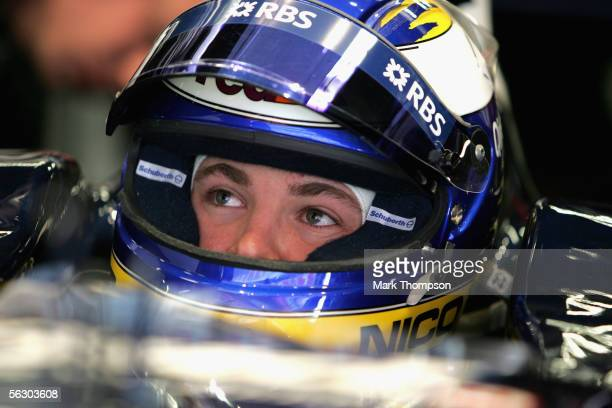 Nico Rosberg of Germany and team Williams in the garage during Formula One winter testing at the Circuit De Catalunya Barcelona Spain on November 30...