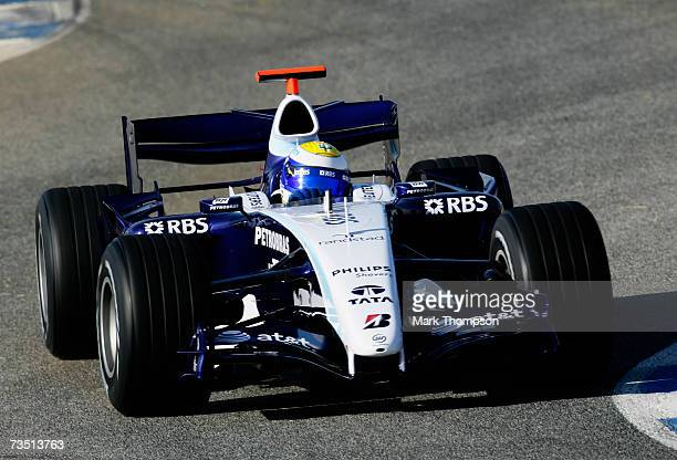 Nico Rosberg of Germany and Williams drives during Formula One winter testing at the Circuit De Jerez on January 9 2007 in Jerez de la Frontera Spain