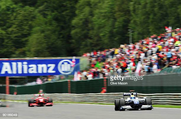 Nico Rosberg of Germany and Williams drives during the Belgian Grand Prix at the Circuit of Spa Francorchamps on August 30 2009 in Spa Francorchamps...