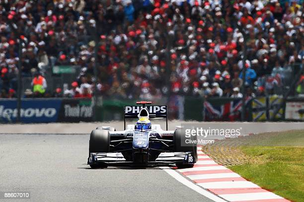Nico Rosberg of Germany and Williams drives during the British Formula One Grand Prix at Silverstone on June 21 2009 in Northampton England