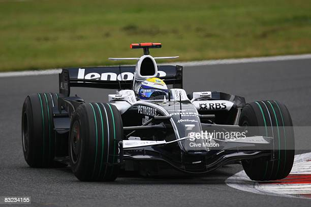 Nico Rosberg of Germany and Williams drives during the Japanese Formula One Grand Prix at the Fuji Speedway on October 12 2008 in Shizuoka Japan