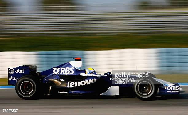 Nico Rosberg of Germany and Williams in action during Formula One testing at the Circuit De Jerez on February 6 2007 in Jerez de la Frontera Spain