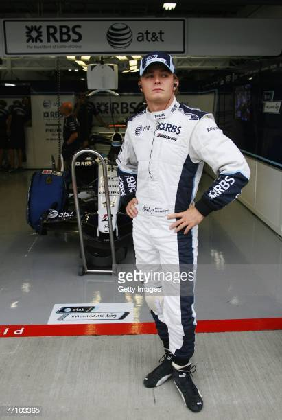 Nico Rosberg of Germany and Williams is seen before qualifying for the Japanese Formula One Grand Prix at the Fuji Speedway on September 29, 2007 in...