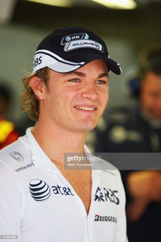 Nico Rosberg of Germany and Williams prepares to drive during the Brazilian Formula One Grand Prix at the Interlagos Circuit on October 18, 2009 in Sao Paulo, Brazil.