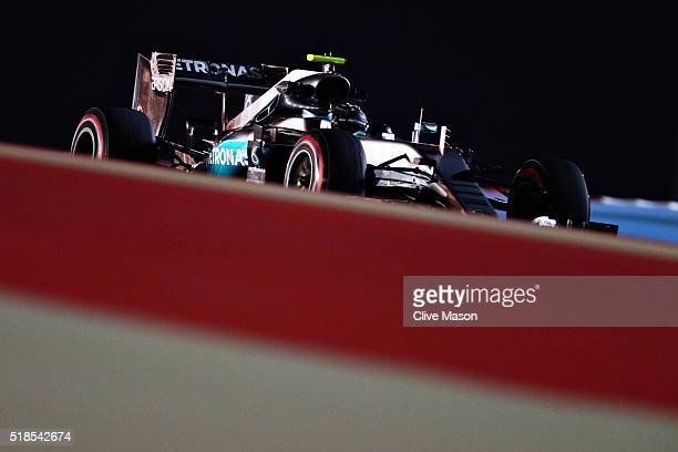 Nico Rosberg of Germany drives the Mercedes AMG Petronas F1 Team Mercedes F1 WO7 Mercedes PU106C Hybrid turbo on track during practice for the...