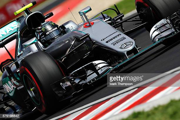 Nico Rosberg of Germany driving the Mercedes AMG Petronas F1 Team Mercedes F1 WO7 Mercedes PU106C Hybrid turbo on track during final practice for the...