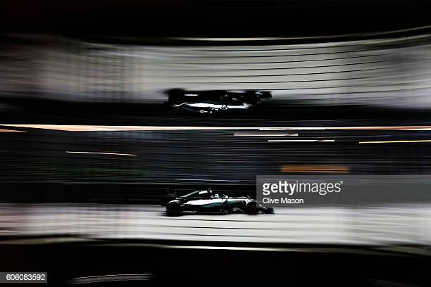 Nico Rosberg of Germany driving the Mercedes AMG Petronas F1 Team Mercedes F1 WO7 Mercedes PU106C Hybrid turbo on track during practice for the...