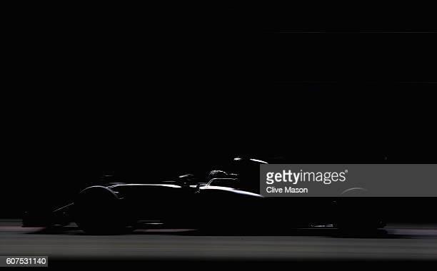 Nico Rosberg of Germany driving the Mercedes AMG Petronas F1 Team Mercedes F1 WO7 Mercedes PU106C Hybrid turbo on track during the Formula One Grand...