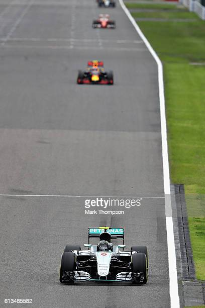 Nico Rosberg of Germany driving the Mercedes AMG Petronas F1 Team Mercedes F1 WO7 Mercedes PU106C Hybrid turbo leads the race during the Formula One...