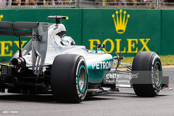Nico Rosberg of Mercedes AMG Petronas F1 during practice for the 2015 Australian Formula 1 Grand Prix at Albert Park on March 14 2015 in Melbourne...