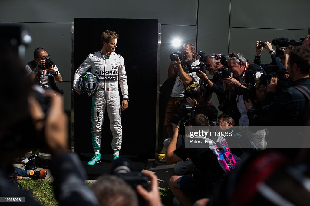 Nico Rosberg of Mercedes and Germany during the Australian Formula One Grand Prix at Albert Park on March 15, 2015 in Melbourne, Australia.