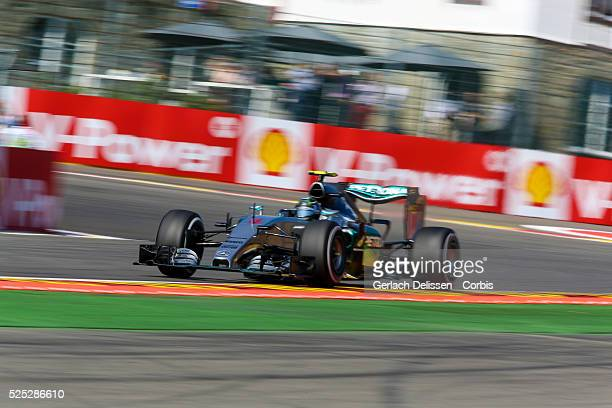Nico Rosberg of the Mercedes AMG Petronas F1 Team during the 2015 Formula 1 Shell Belgian Grand Prix free practise 1 at Circuit de Spa-Francorchamps...