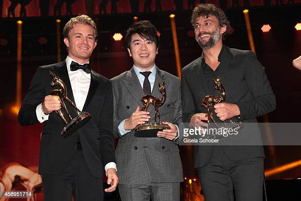 Nico Rosberg, Pianist Lang Lang, Jonas Kaufmann during the Bambi Awards 2014 show on November 13, 2014 in Berlin, Germany.
