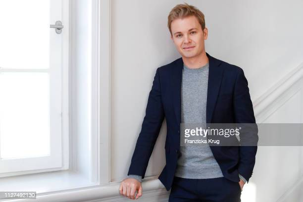 Nico Rosberg poses during the presentation of the GREENTECH FESTIVAL on January 31, 2019 in Berlin, Germany. Nico Rosberg, Marco Voigt and Sven...