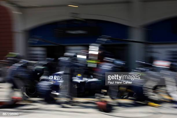 Nico Rosberg, Williams-Toyota FW31, Grand Prix of Turkey, Istanbul Park, 07 June 2009. Nico Rosperg making a pit stop during the 2009 Turkish Grand...