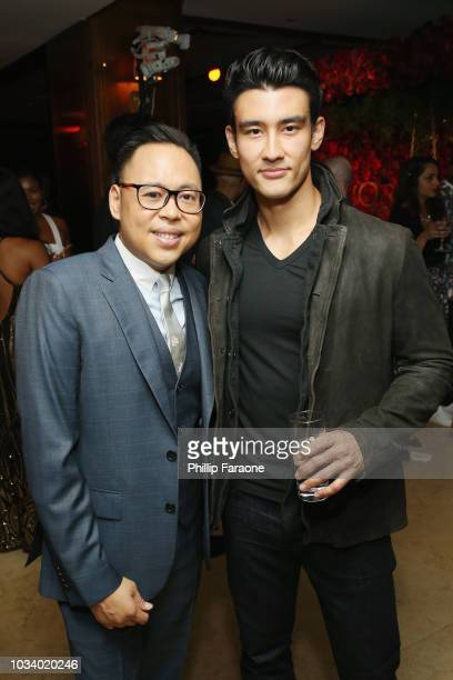 Nico Santos and Alex Landi attend the 2018 PreEmmy Party hosted by Entertainment Weekly and L'Oreal Paris at Sunset Tower on September 15 2018 in Los...