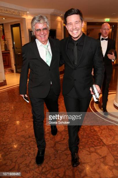 Nico Santos and his father Egon Wellenbrink during the Audi Generation Award 2018 at Hotel Bayerischer Hof on December 11 2018 in Munich Germany