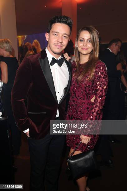 Nico Santos and his girlfriend Leonie Hagedorn during the Bambi Awards 2019 party at Festspielhaus Baden-Baden on November 21, 2019 in Baden-Baden,...