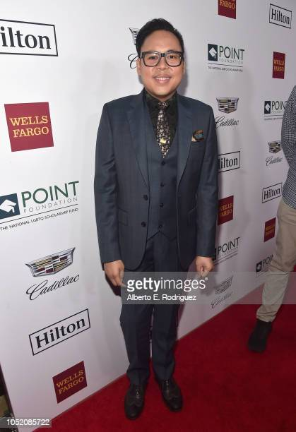 Nico Santos arrives at Point Foundation's Point Honors gala at The Beverly Hilton Hotel on October 13 2018 in Beverly Hills California