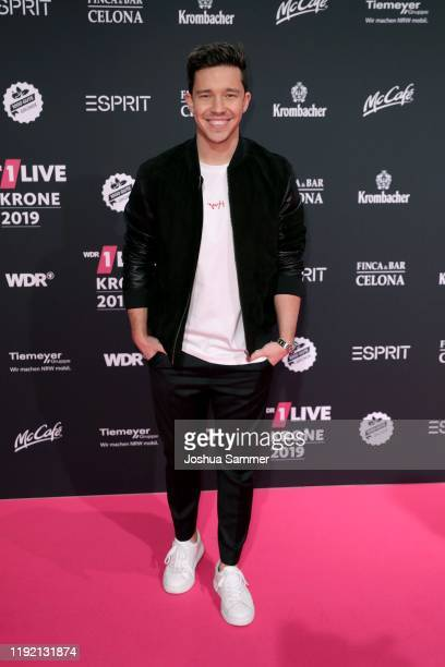 Nico Santos arrives for the 1Live Krone radio award at Jahrhunderthalle on December 05 2019 in Bochum Germany