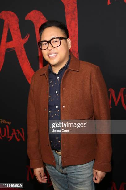 Nico Santos attends the World Premiere of Disney's 'MULAN' at the Dolby Theatre on March 09 2020 in Hollywood California