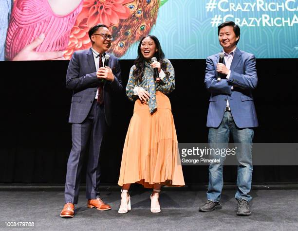 Nico Santos Awkwafina and Ken Jeong arrive In Toronto To introduce The Release Of Crazy Rich Asians on July 30 2018 at Tiff Bell Lightbox in Toronto...
