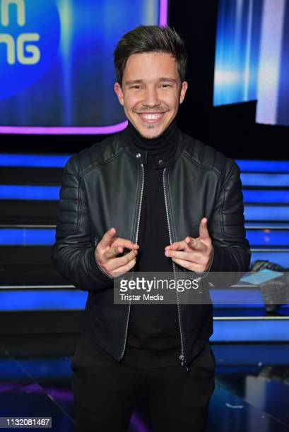 Nico Santos poses during a photocall after the finals of the KIKA / ZDF television competition 'Dein Song 2019' at MMC Studios on March 22 2019 in...