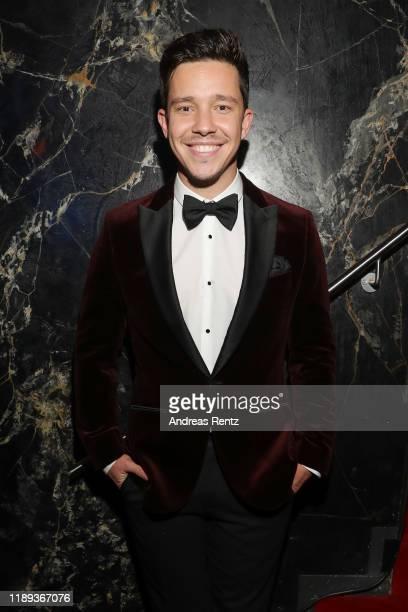Nico Santos, wearing BOSS tuxedo, attends the Bambi Awards 2019 party on November 21, 2019 in Baden-Baden, Germany.