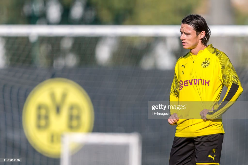 Nico Schulz of Borussia Dortmund looks on during day one of the ...