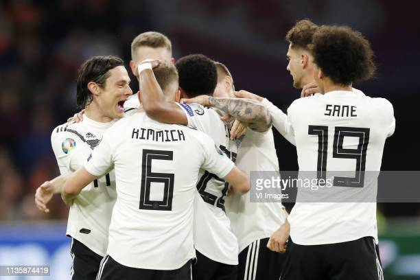 Nico Schulz of Germany Joshua Kimmich of Germany Serge Gnabry of Germany Toni Kroos of Germany Niklas Sule of Germany Leroy Sane of Germany during...