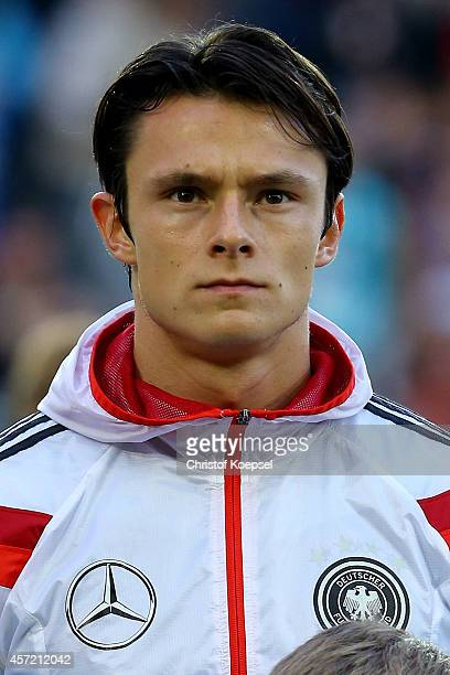 Nico Schulz of Germany looks on prior to the UEFA U21 Championship Playoff second leg match between Germany and Ukraine at Stadion Essen on October...