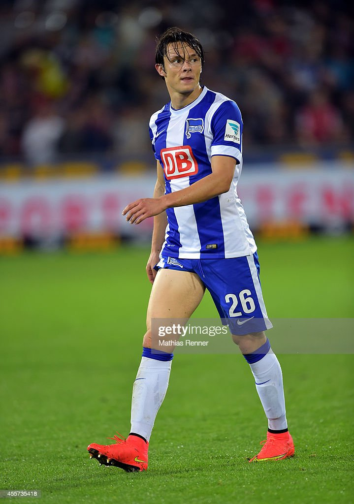 Nico Schulz of Hertha BSC during the Bundesliga match between SC Freiburg and Hertha BSC on september 19, 2014 in Freiburg, Germany.