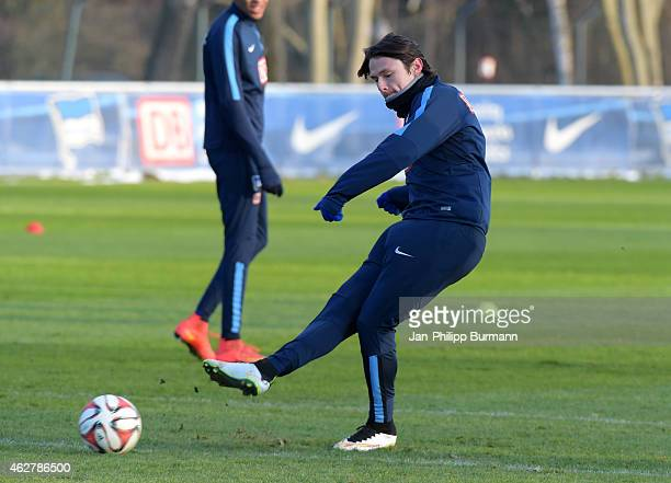 Nico Schulz of Hertha BSC during the training of Hertha BSC on february 5 2015 in Berlin Germany