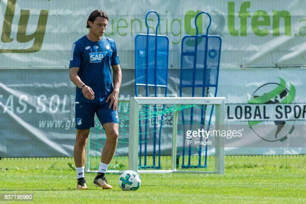 Nico Schulz of Hoffenheim controls the ball during the Training Camp of TSG 1899 Hoffenheim on July 16 2017 in Windischgarsten Austria