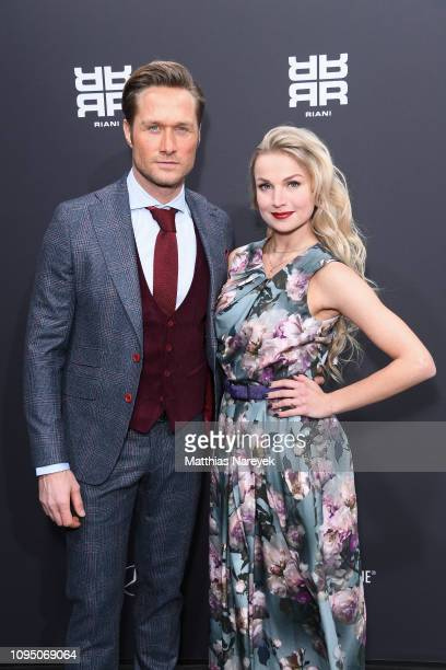 Nico Schwanz and Katja Kalugina attend the Riani show during the Berlin Fashion Week Autumn/Winter 2019 at ewerk on January 16 2019 in Berlin Germany