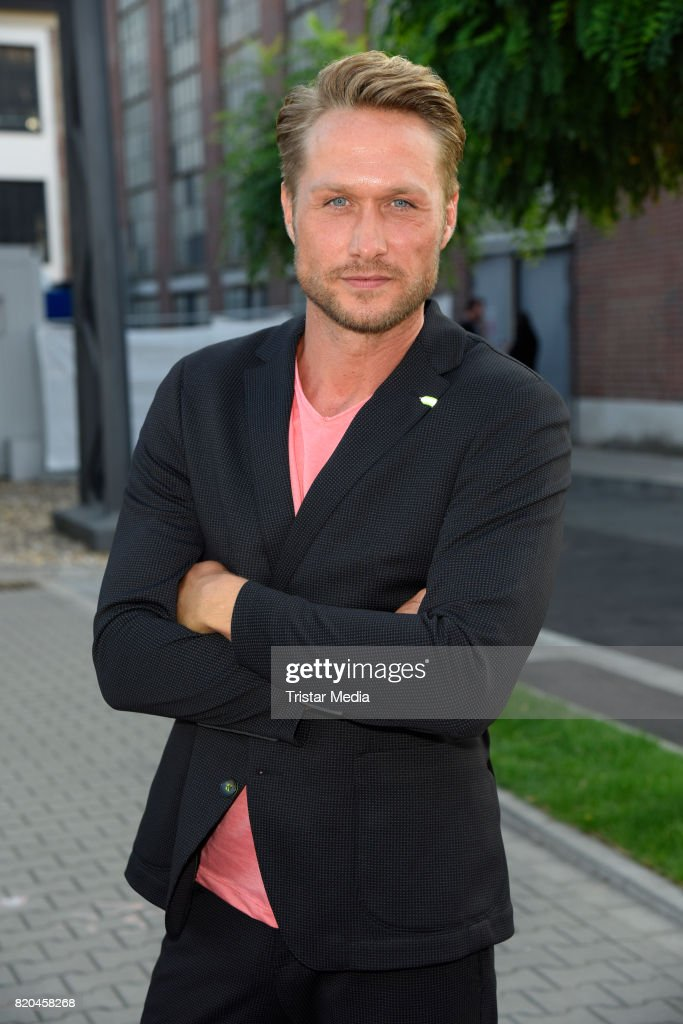 Nico Schwanz attends the Breuninger show during Platform Fashion July 2017 at Areal Boehler on July 21, 2017 in Duesseldorf, Germany.