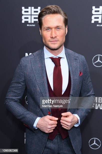 Nico Schwanz attends the Riani show during the Berlin Fashion Week Autumn/Winter 2019 at ewerk on January 16 2019 in Berlin Germany