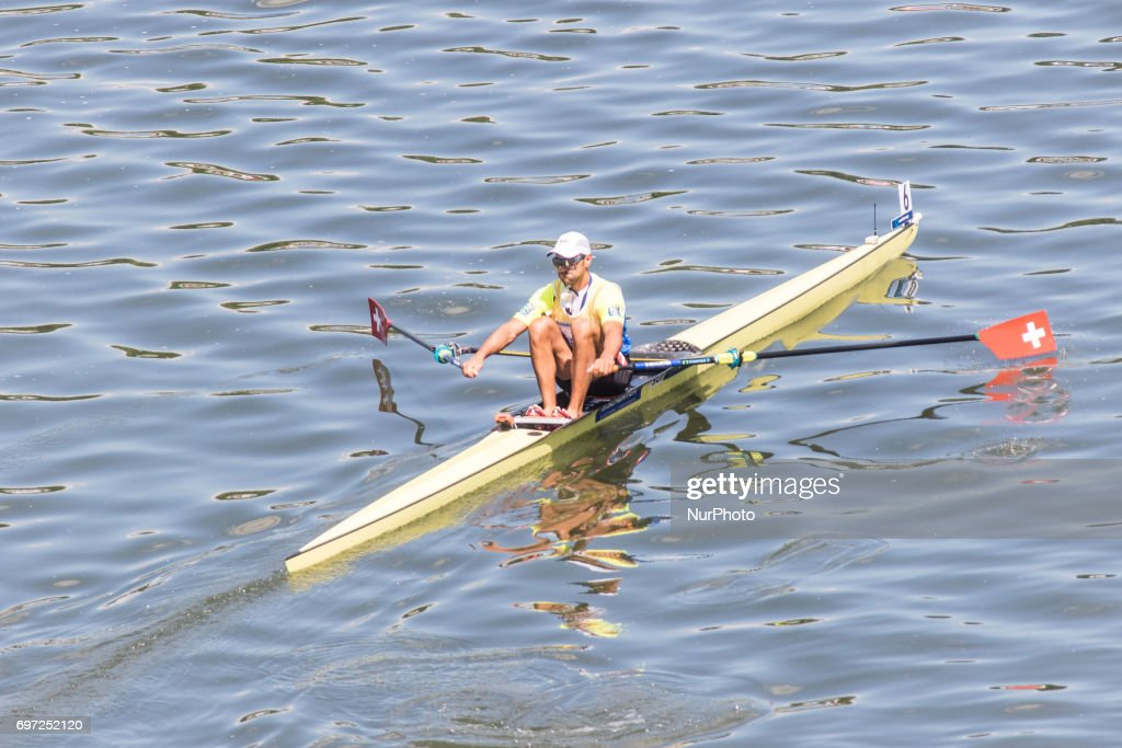 Nico Stahlberg (SUI) M1x during the final day of the 2017 World Rowing World Cup in Poznan, Poland, on 18 June 2017.