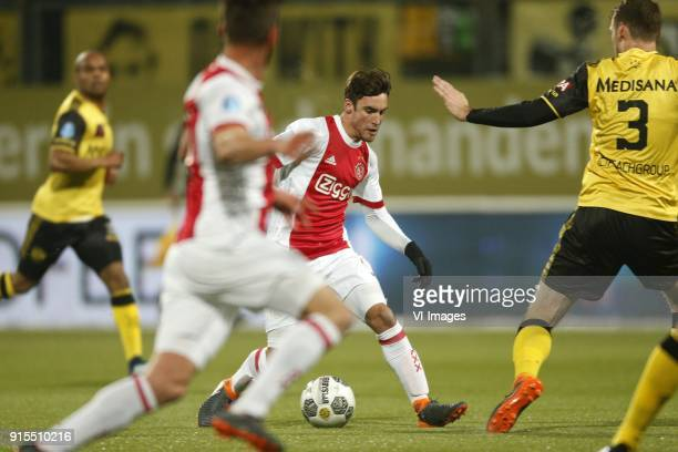 Nico Tagliafico of Ajax during the Dutch Eredivisie match between Roda JC Kerkrade and Ajax Amsterdam at the Parkstad Limburg stadium on February 07...