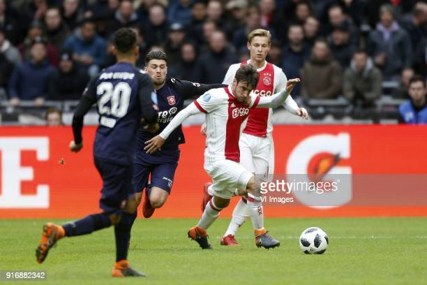 Nico Tagliafico of Ajax during the Dutch Eredivisie match between Ajax Amsterdam and FC Twente Enschede at the Amsterdam Arena on February 11 2018 in...