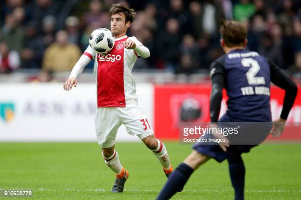 Nico Tagliafico of Ajax during the Dutch Eredivisie match between Ajax v Fc Twente at the Johan Cruijff Arena on February 11 2018 in Amsterdam...