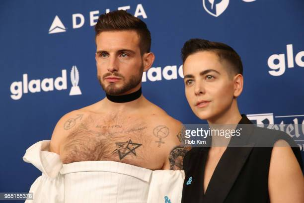 Nico Tortorella and Bethany C Meyers attend the 29th Annual GLAAD Media Awards at Mercury Ballroom at the New York Hilton on May 5 2018 in New York...