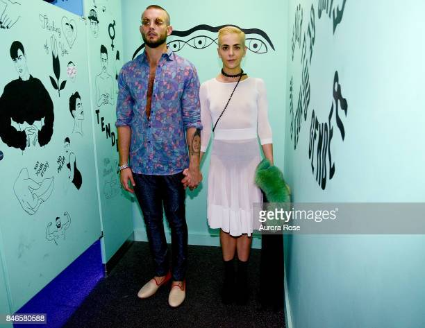 Nico Tortorella and Bethany Meyers attend Refinery29's '29Rooms Turn It Into Art' at 106 Wythe Ave on September 7 2017 in New York City