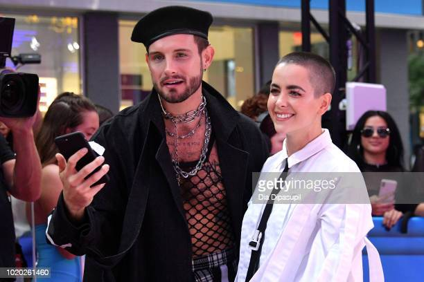 Nico Tortorella and Bethany Meyers attend the 2018 MTV Video Music Awards at Radio City Music Hall on August 20 2018 in New York City