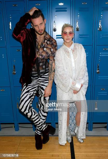 Nico Tortorella and Bethany Meyers attend the Teen Vogue Summit at 72andSunny on December 1, 2018 in Los Angeles, California.