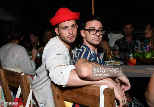 Nico Tortorella and Christian Siriano attend Adore Me x Pride 2019 hosted By Gigi Gorgeous at Gitano on June 27 2019 in New York City