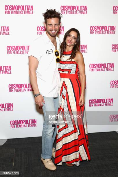 Nico Tortorella and Dr Emily Morse attend the Cosmopolitan Let's Talk About It Event on June 24 2017 in New York City